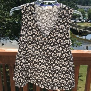 Anthropology Postage Stamp Top Size XS